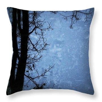 Dark Tree Silhouette  Throw Pillow