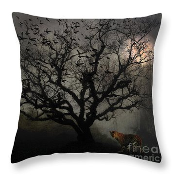 Dark Valley Throw Pillow
