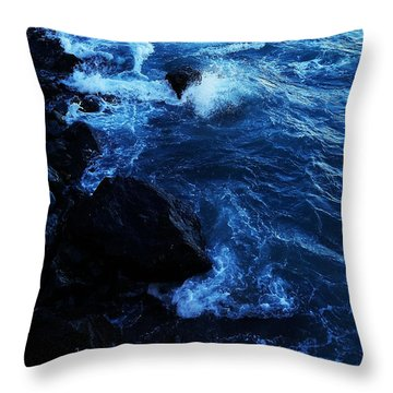 Throw Pillow featuring the digital art Dark Water by Julian Perry