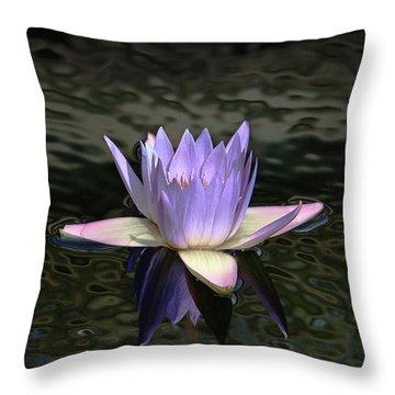 Dark Water Shimmering Throw Pillow
