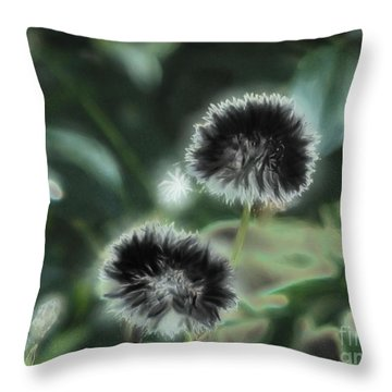 Throw Pillow featuring the photograph Dark Wishes by Roxy Riou