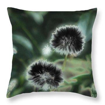 Dark Wishes Throw Pillow by Roxy Riou