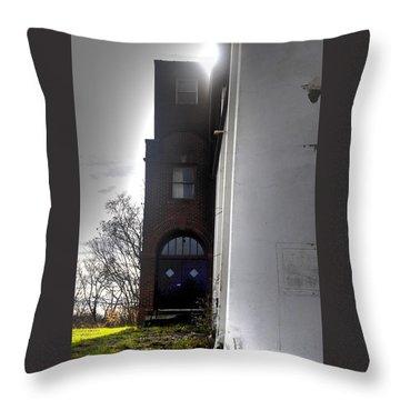Darkened Door Throw Pillow