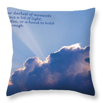 Darkest Of Moments Throw Pillow