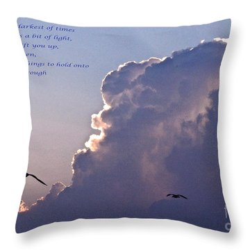 Darkest Of Times Throw Pillow