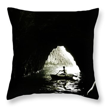 Darkest Waters Throw Pillow