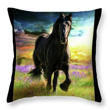 Throw Pillow featuring the digital art  Darkness Descending by Trudi Simmonds