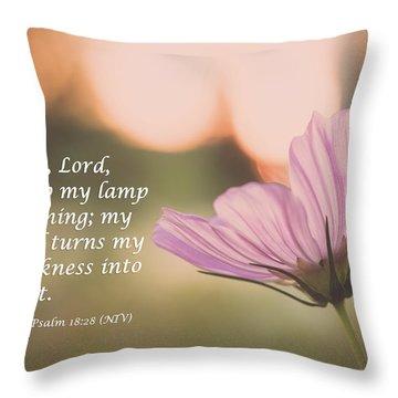 Darkness Into Light Throw Pillow