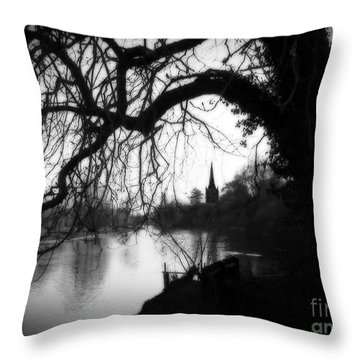 Throw Pillow featuring the photograph Darkness Looms Over The Avon by Sue Melvin