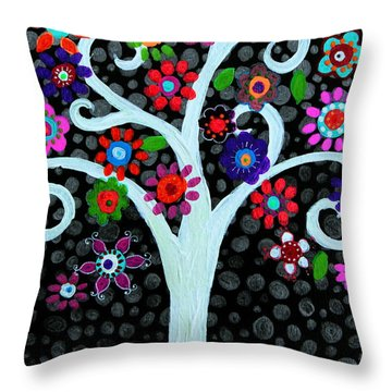 Throw Pillow featuring the painting Darkness Of Light by Pristine Cartera Turkus