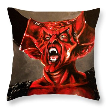Darkness Throw Pillow by Tom Carlton
