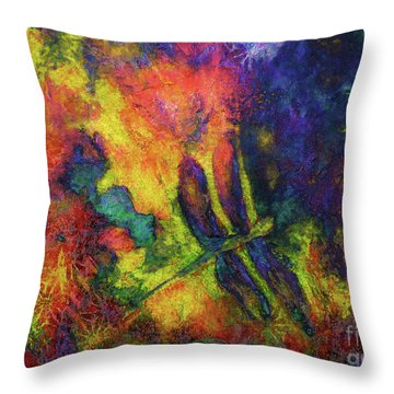 Darling Darker Dragonfly Throw Pillow