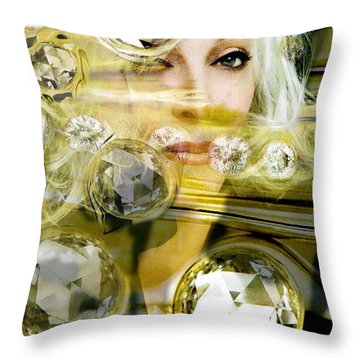 Throw Pillow featuring the digital art Darling Diamonds by Seth Weaver
