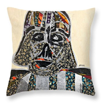 Darth Vader Star Wars Afrofuturist Collection Throw Pillow by Apanaki Temitayo M