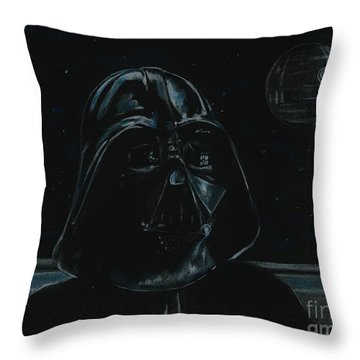 Darth Vader Study Throw Pillow
