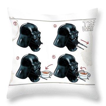 Darth Vader Tea Drinking Star Wars Throw Pillow