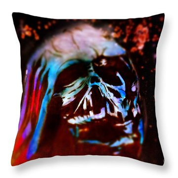 Darth Vader's Melted Helmet Throw Pillow