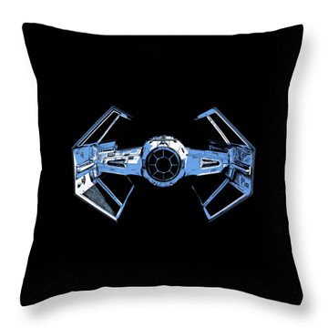 Darth Vaders Tie Figher Advanced X1 Tee Throw Pillow by Edward Fielding