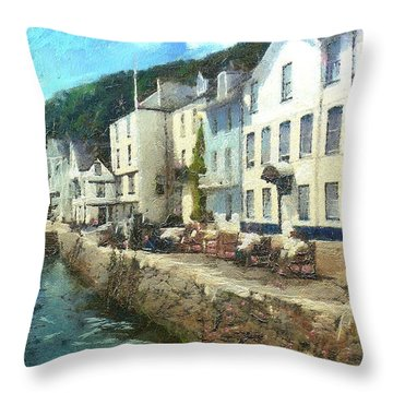 Bayards Cove Dartmouth Devon  Throw Pillow