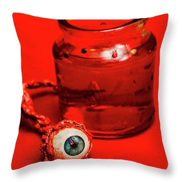 Darwin Leye Throw Pillow