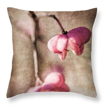 Das Pfaffenhuetchen - Spindle Tree Throw Pillow