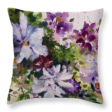 Dash Of White Throw Pillow