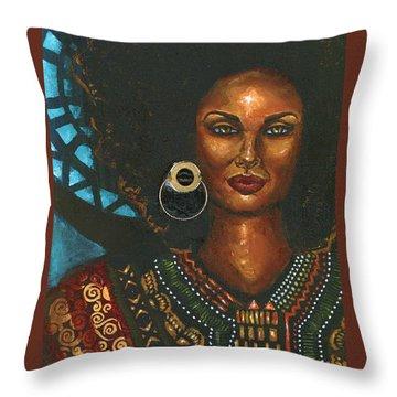 Throw Pillow featuring the painting Dashiki by Alga Washington