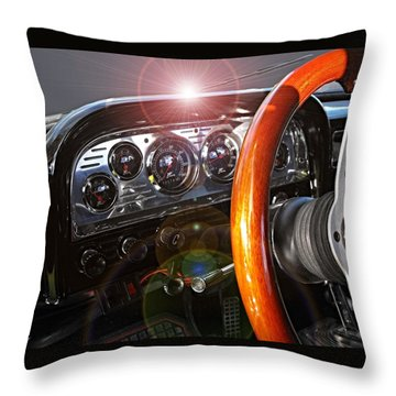 Dashing Throw Pillow by David and Lynn Keller