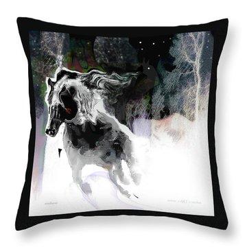 Dashing Through The Snow Throw Pillow