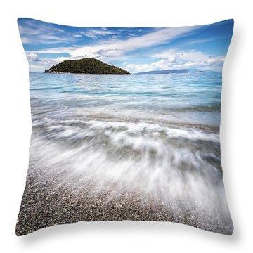 Dasia Island Throw Pillow by Evgeni Dinev