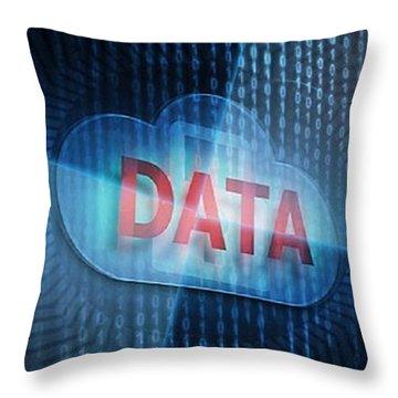Data Storage Technologies Throw Pillow