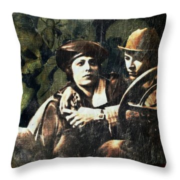 Throw Pillow featuring the digital art Date Night by Delight Worthyn