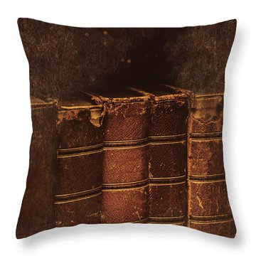 Throw Pillow featuring the photograph Dated Textbooks by Jorgo Photography - Wall Art Gallery