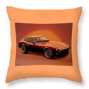 Datsun 240z 1970 Painting Throw Pillow by Paul Meijering