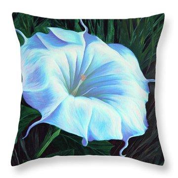 Datura Flower Throw Pillow