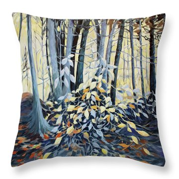 Throw Pillow featuring the painting Natures Dance by Joanne Smoley