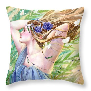 Daughter Of The King Throw Pillow by Sara Burrier
