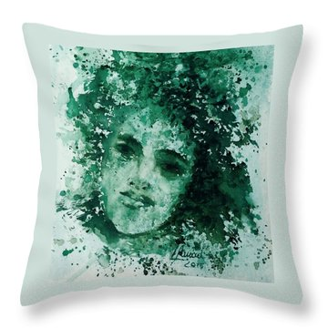 Daughter Of Nature Throw Pillow
