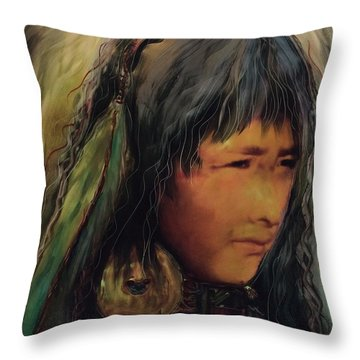 Daughters Of The Earth Throw Pillow