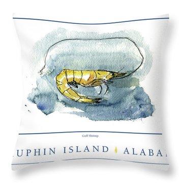 Dauphin Island, Alabama Throw Pillow