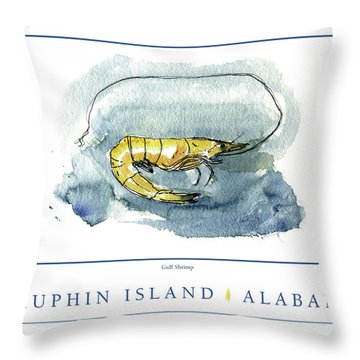 Dauphin Island, Alabama Throw Pillow