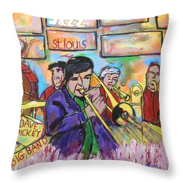 Dave Dickey Big Band Throw Pillow