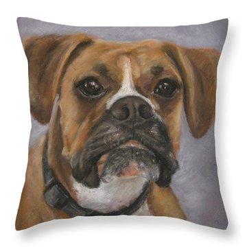 Dave Throw Pillow by Elizabeth Ellis