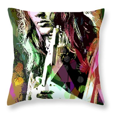 Dave Gilmour Dark Side Throw Pillow