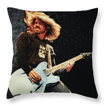 Dave Grohl Throw Pillow