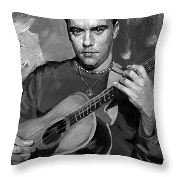 Dave Matthews Throw Pillow by Ylli Haruni