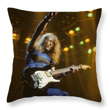 Dave Murray Of Iron Maiden Throw Pillow