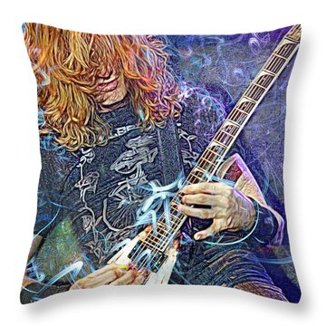 Dave Mustaine, Megadeth Throw Pillow