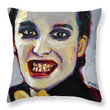 Dave Vanian Of The Damned Throw Pillow