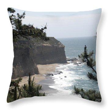 Davenport Beach Throw Pillow